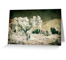 Vintage Monument Valley Desert Greeting Card