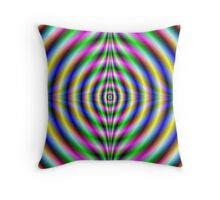 Psychedelic Neon Eye Throw Pillow