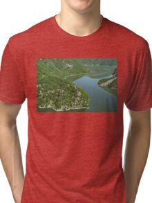 More Than Fifty Shades Of Green - Summer Lake in the Mountains Tri-blend T-Shirt