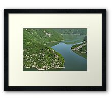 More Than Fifty Shades Of Green - Summer Lake in the Mountains Framed Print