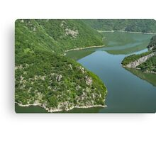 More Than Fifty Shades Of Green - Summer Lake in the Mountains Canvas Print