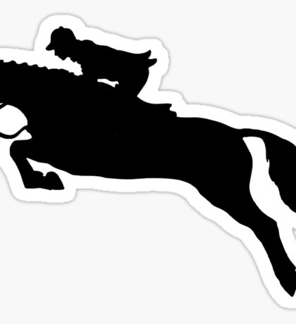 Black Jumping Horse Sticker