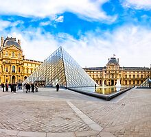 Beautiful Day In The Louvre Courtyard - Paris by Mark Tisdale