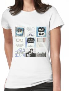 tfios collage tshirt Womens Fitted T-Shirt
