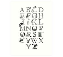 Illustrated Alphabet Art Print