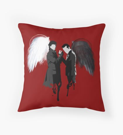 On the Side of the Angels Throw Pillow
