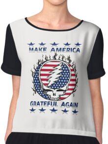 Make Grateful Again - America Chiffon Top