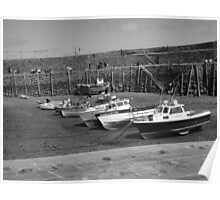 Boats at Clovelly Poster