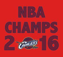Cleveland Cavaliers 2016 NBA Champions vs. Golden State Warriors Baby Tee