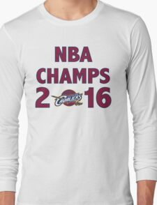 Cleveland Cavaliers 2016 NBA Champions vs. Golden State Warriors Long Sleeve T-Shirt