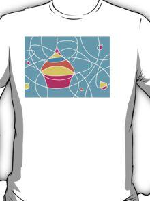 retro cupcake shapes T-Shirt