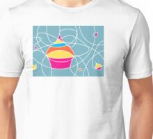 retro cupcake shapes Unisex T-Shirt