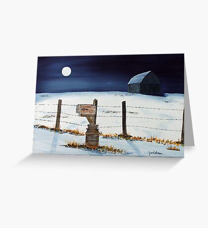 Lunar Shadows Greeting Card