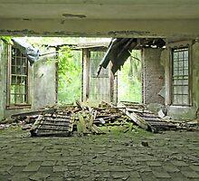 Collapsed Window by Ryan Paradis