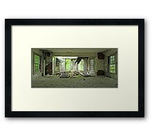 Collapsed Window Framed Print