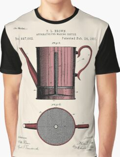 Coffee Press Patent Graphic T-Shirt