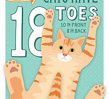 Cats have 18 Toes by missmewow