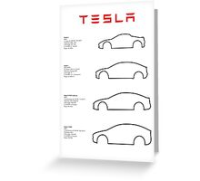 Tesla (text) Greeting Card