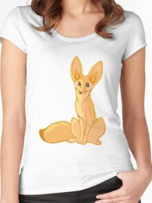 Fennec Fox Women's Fitted Scoop T-Shirt