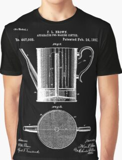 Coffee Press Patent - Black Graphic T-Shirt