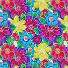 Big 'n Bold Pink Flowers by Cherie Balowski