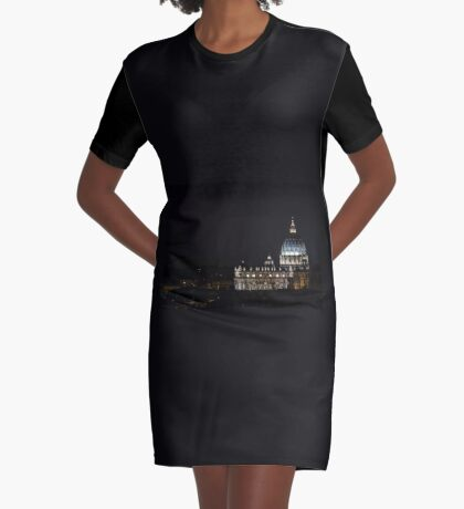 Rome - S. Peter at night Graphic T-Shirt Dress
