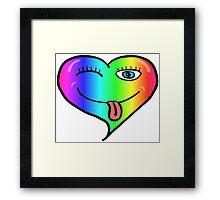 Playful At Heart -  Cute Child's Play - Cheeky - Rainbow Framed Print