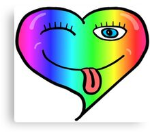Playful At Heart -  Cute Child's Play - Cheeky - Rainbow Canvas Print