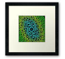 Green Dragon Eye Framed Print