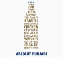 Absolut Punjabi Mens Round Neck T Shirt by champu