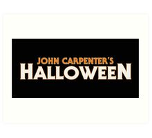 JOHN CARPENTER'S HALLOWEEN Art Print