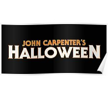 JOHN CARPENTER'S HALLOWEEN Poster