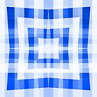 Blue Square/Star Pattern Cushion (1 of 2, please read description) and Tote Bag by Ra12