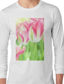 Tulips in Pink Long Sleeve T-Shirt
