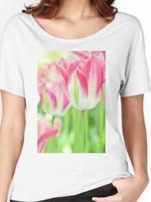 Tulips in Pink Women's Relaxed Fit T-Shirt