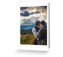Outlander/Jamie & Claire on Fraser's Ridge. Greeting Card