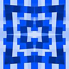 Blue Square/Star Pattern Cushion (2 of 2, please read description) and Tote Bag by Ra12
