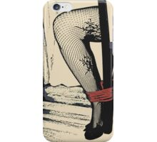 Bodystocking, Ropes and Tied to Chair Girl BDSM Play iPhone Case/Skin