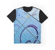 A Squiggle and Squares Graphic T-Shirt