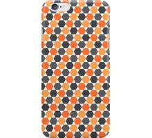 Orange and gray hexagon pattern iPhone Case/Skin