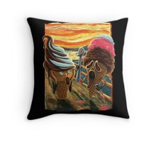 The Scream ICE CREAM SCREAMS Throw Pillow