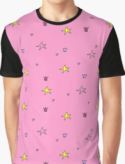Stars pattern pink Graphic T-Shirt