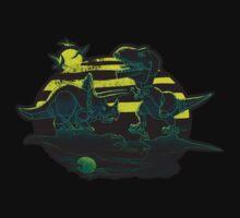 EPIC DINOSAUR BATTLE at Dawn by MudgeStudios