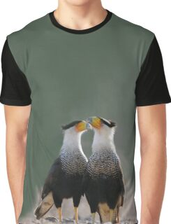 Two Crested Caracaras - Birder's T-Shirts and Totes Graphic T-Shirt