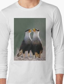 Two Crested Caracaras - Birder's T-Shirts and Totes Long Sleeve T-Shirt