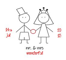mr. & mrs wonderful with dates! Photographic Print