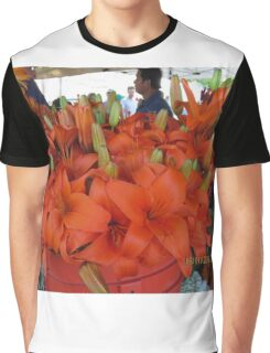 Vibrant flower selcetion at Farmer's Market Graphic T-Shirt