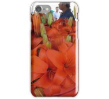 Vibrant flower selcetion at Farmer's Market iPhone Case/Skin