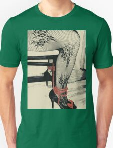 Bodystocking, Ropes and Tied to Chair Girl BDSM Side Unisex T-Shirt