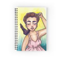 Sleeping Beauty in Pink Spiral Notebook